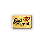 Just Married Gold tone