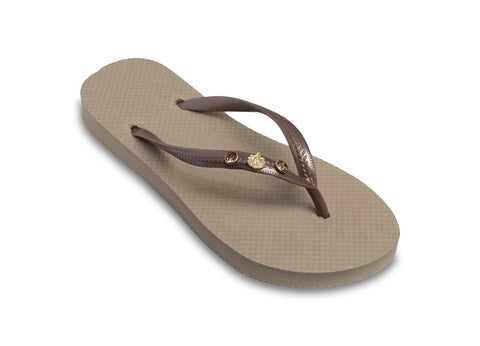 Golden Lotus Flip Flops for Ladies