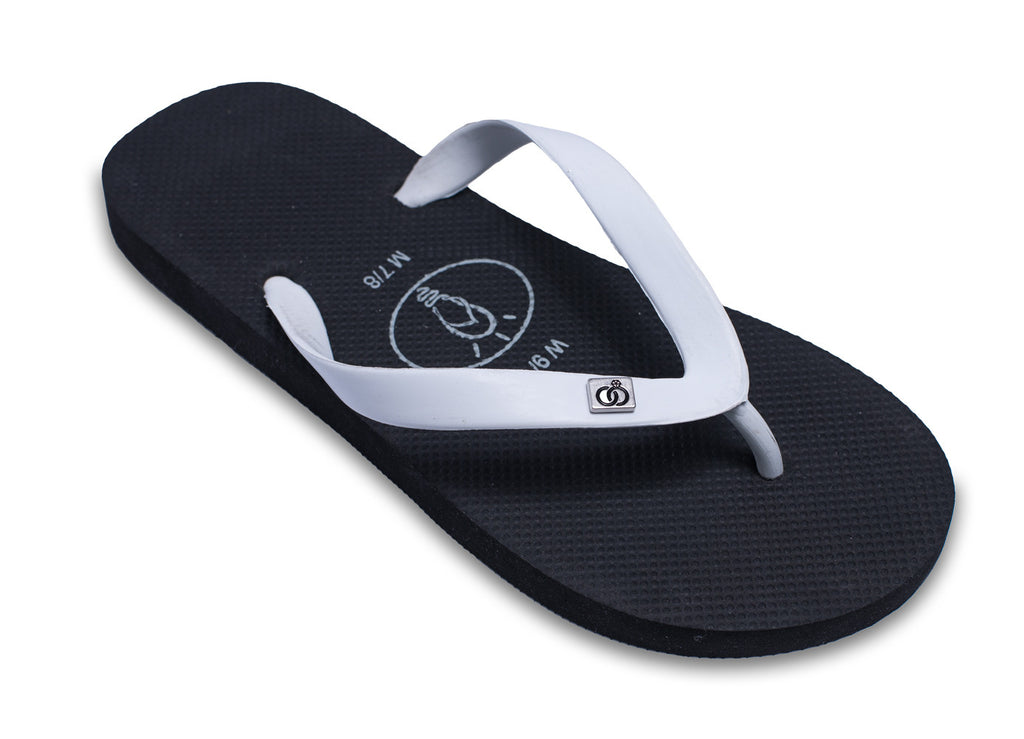 Mens Flip Flops 'Wedding Rings' for Grooms (also has a matching bridal version)