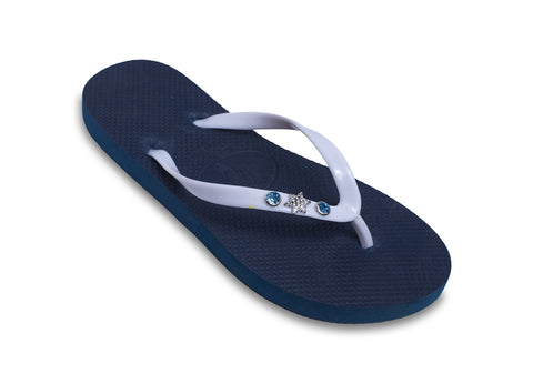 Frozen Snow Flake Flip Flops for Ladies