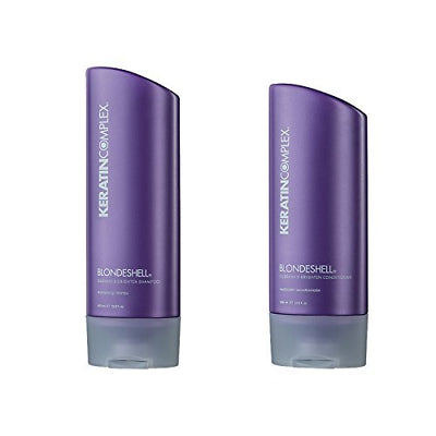Keratin Complex Blondshell Shampoo & Conditioner, 400 ml / 13.5 fl oz ea - Psyduckonline