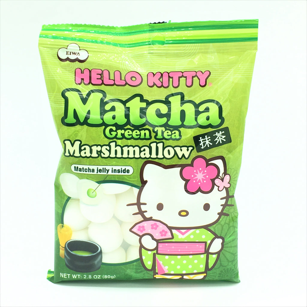 Hello Kitty Marshmallow -Green Tea - Matcha Jelly inside 80 g