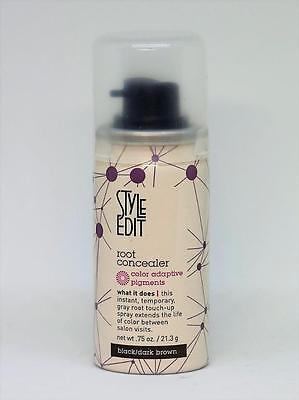 Style Edit Root Concealer Black/Dark Brown, 0.75 oz W/O Box