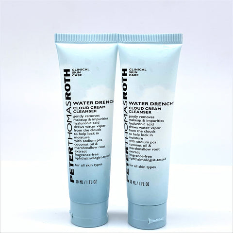 Peter Thomas Roth Water Drench Cloud Cream Cleanser, 2X30ml Travel size