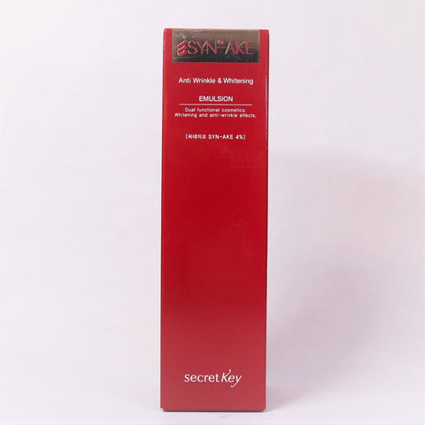 Secret Key SYN-AKE Anti Wrinkle & Whitening Emulsion ,150 ml / 5.07 fl oz - Psyduckonline