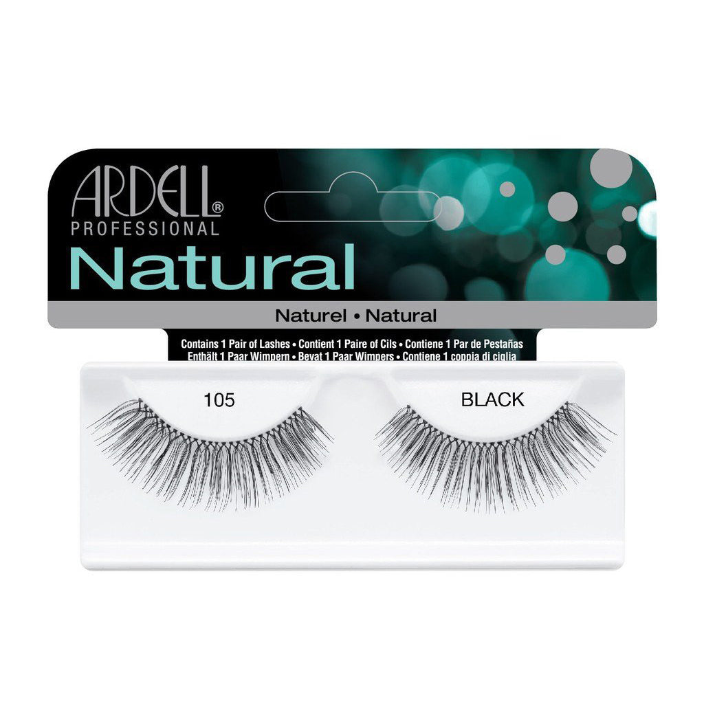 Ardell Natural Lashes -105 Balck, 1 Pair [3X Packs] - Psyduckonline