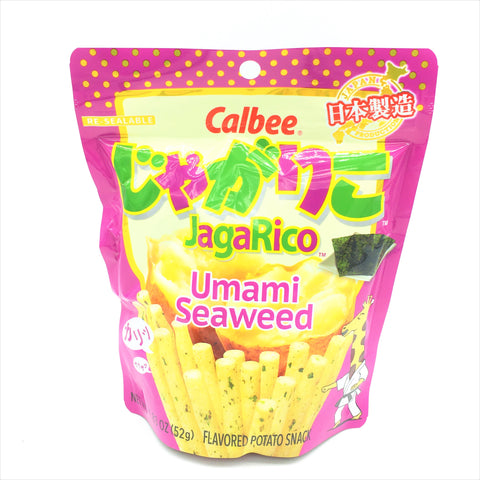 Calbee JagaRico Umami Seaweed Potato Snack,Made in Japan 1.83 oz