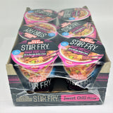 Nissin Bowl Stir Fry Type Noodles -Sweet Chili Flavor 2.89 oz X 6 Pkgs