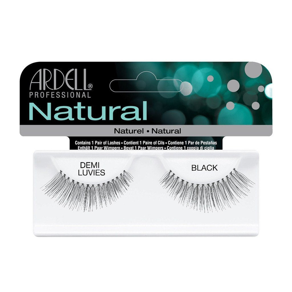Ardell Natural Lashes -Demi Luvies Balck, 1 Pair [3X Packs] - Psyduckonline