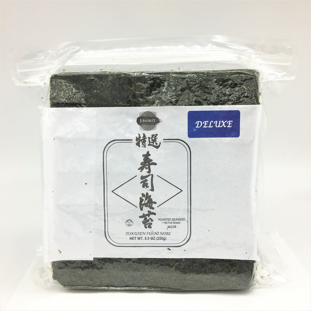 J-Basket Deluxe Sushi Nori Roasted Seaweed 100 Full Sheets 8.8oz /250g
