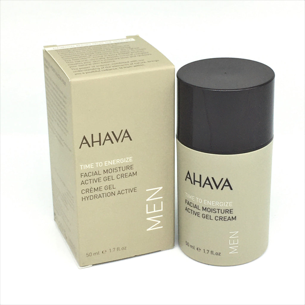 AHAVA Men Time To Energize Facial Moisture Active Gel Cream 50 ml/ 1.7 oz