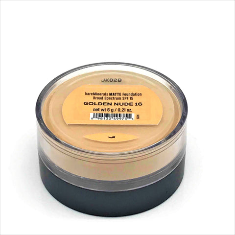 (2Pack) bareMinerals Matte SPF 15 Foundation - Golden Nude 16, 6g/0.21oz