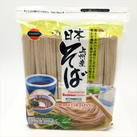 J-Basket Japanese Buckwheat Noodles 25.40oz/ 720g