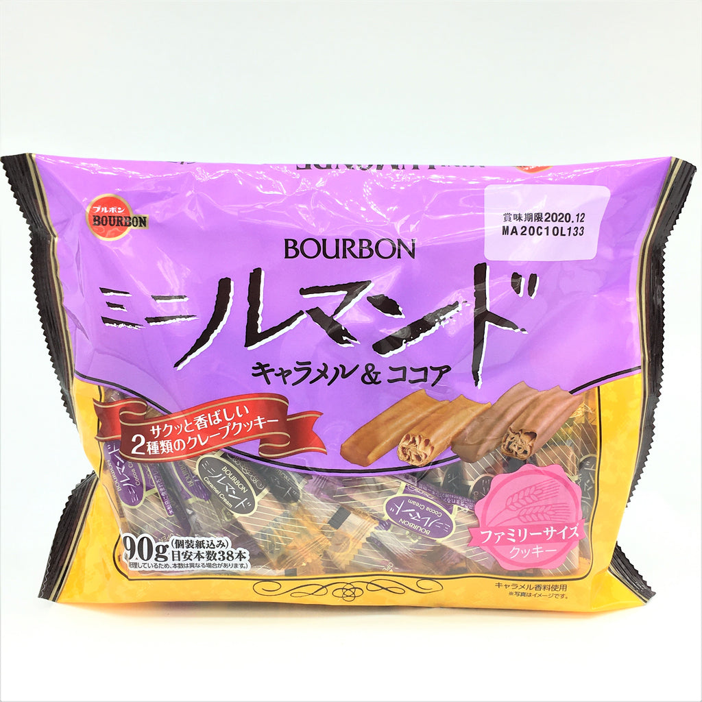 Bourbon Japanese Mini Lumonde Caramel & Cocoa Cookie 180g