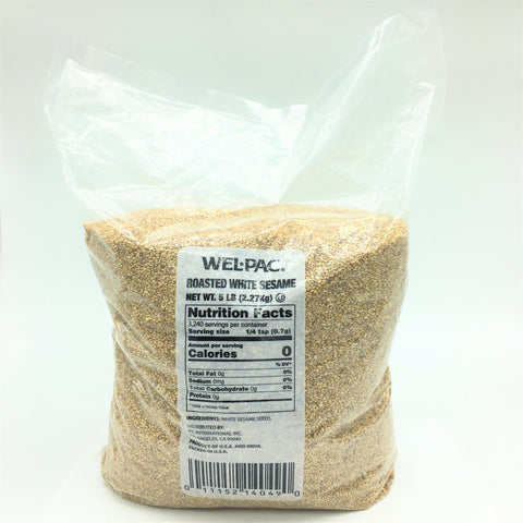 WEL - PAC Roasted White Sesame 5 LB