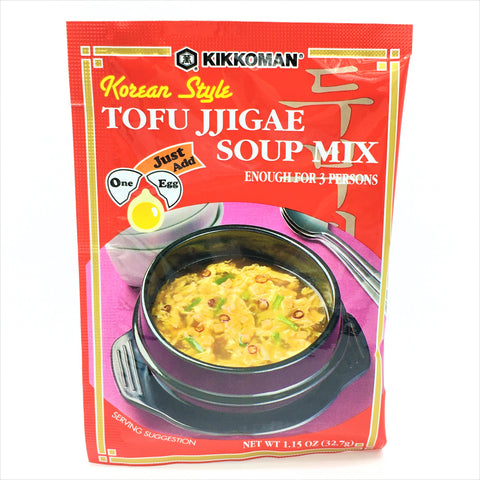 Kikkoman Korean Style Tofu Jjigae Soup Mix, For 3 Persons 1.15 oz