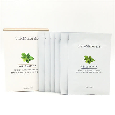 bareMinerals Skinlongevity Green Tea Herbal Eye Mask 6 Pairs