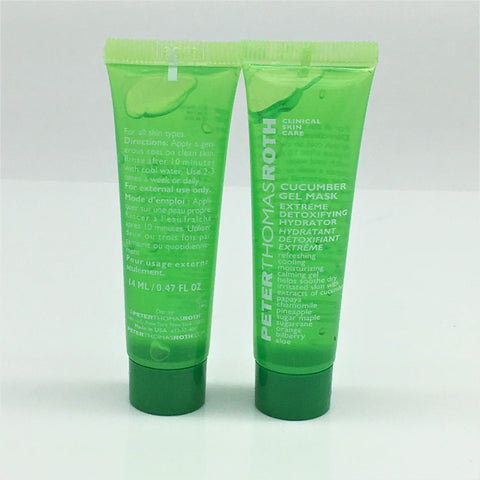 Peter Thomas Roth Cucumber Gel Mask Extreme DeTox Hydrator,2X14ml(Travel size)