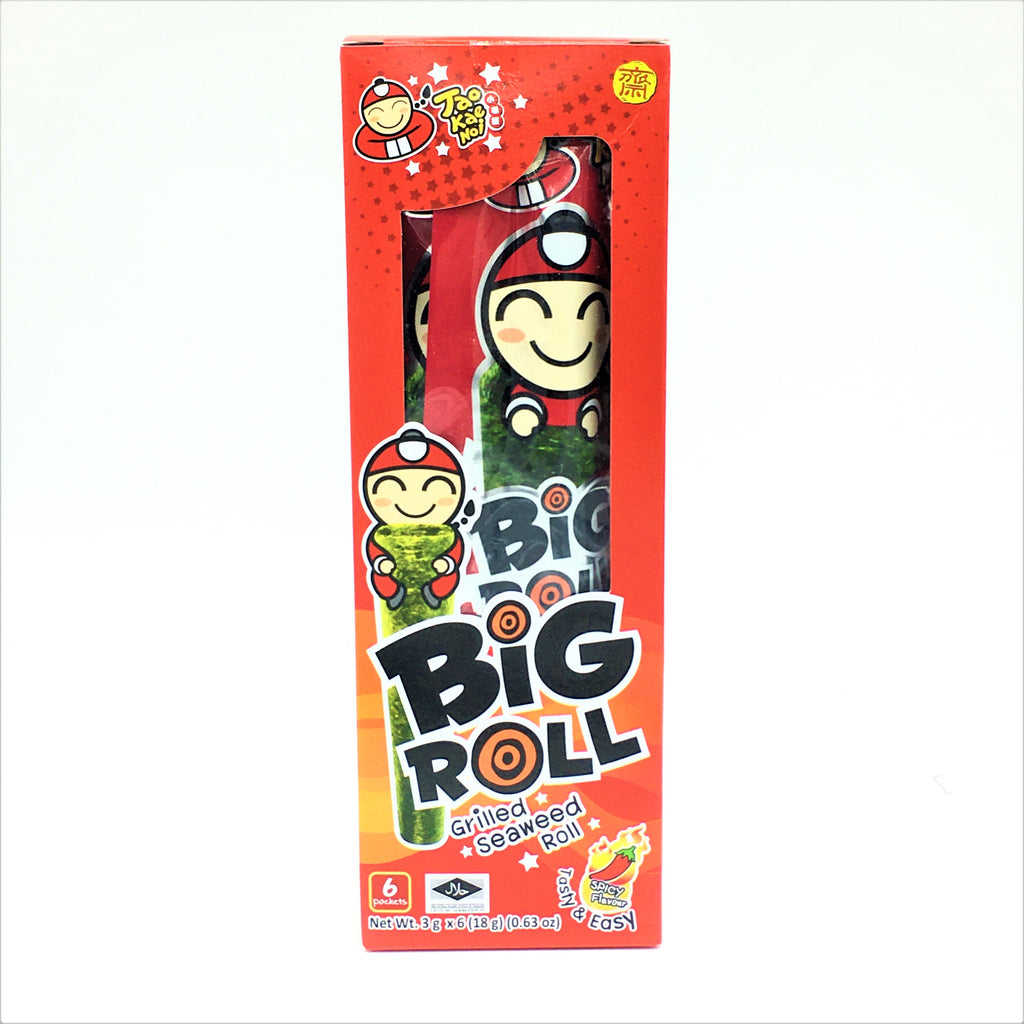 Taokaenoi Grill Seaweed Roll- Spicy 3g 6Packets
