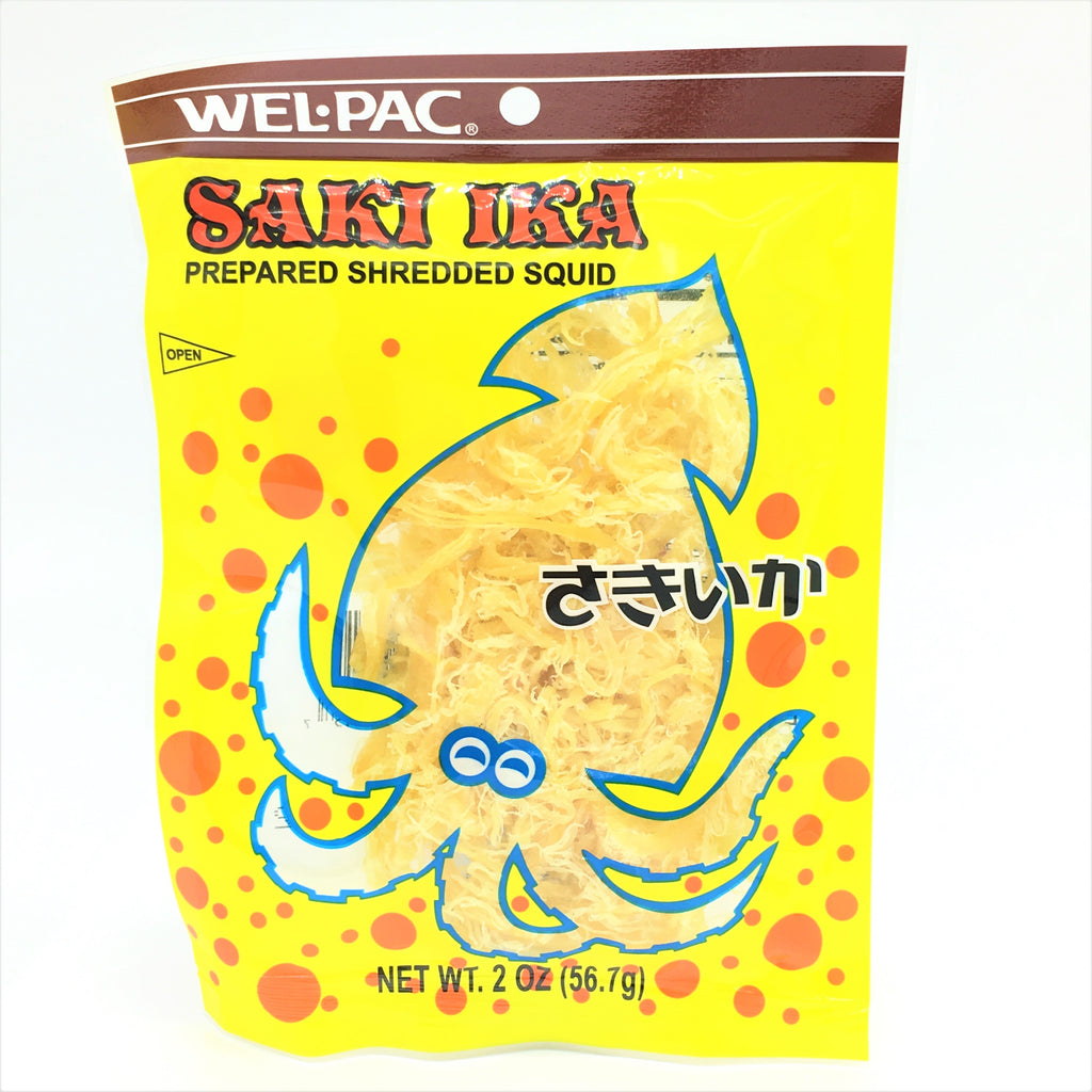 WEL.PAC Taiwanese Saki Ika Prepared Shredded Squid-Original 2oz