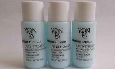 Yonka Essentials Lait Nettoyant Face & Eyes 3 Travel Tubes 3x 8ml/0.27oz
