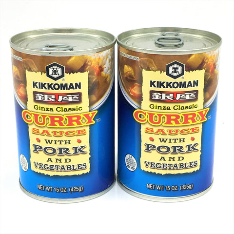 Kikkoman Ginza Classic Curry Sauce With Pork And Vegetables 15oz X2