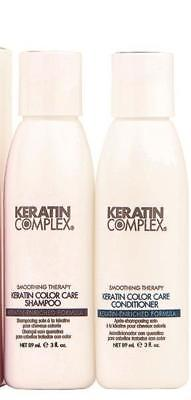 Keratin Complex Keratin Color Care Shampoo & Conditioner, Travel Size 3 fl oz ea - Psyduckonline