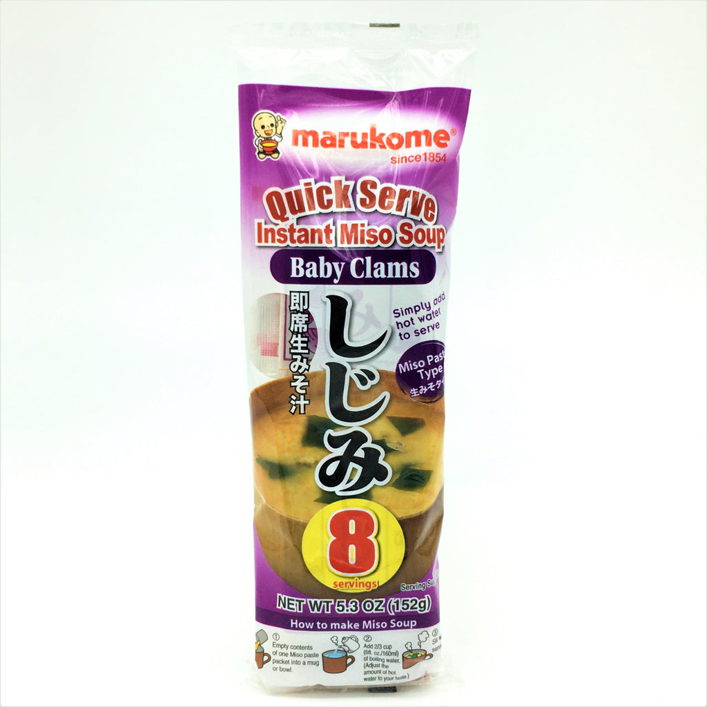 Marukome Quick Serve Instant Miso Soup -Baby Clams 8 Servings 152 g
