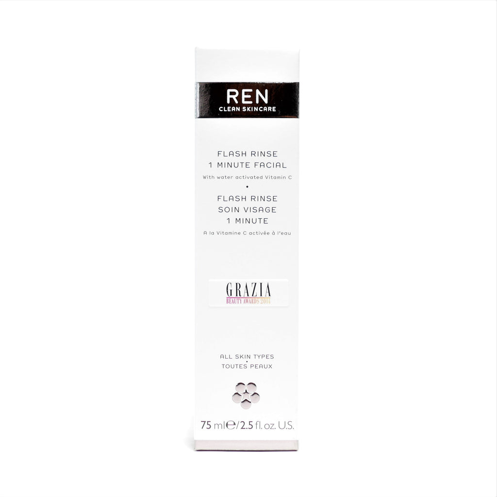 REN Clean Skincare Flash Rinse 1 Minute Facial , 75 ml / 2.5 oz - Psyduckonline