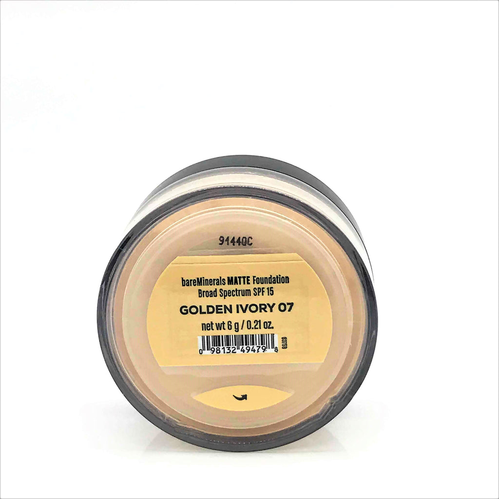 bareMinerals Matte SPF 15 Foundation - Golden Ivory 07, 6g / 0.21oz - Psyduckonline