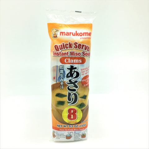 Marukome Quick Serve Instant Miso Soup - Clams 8 Servings 152 g