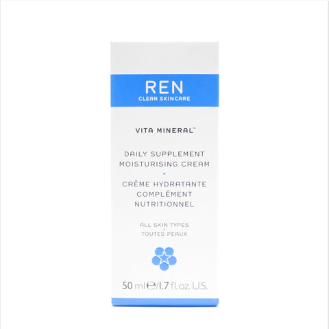 REN Clean Skincare Vita Mineral Daily Supplement Moisturizing Cream, 50ml/1.7 oz - Psyduckonline