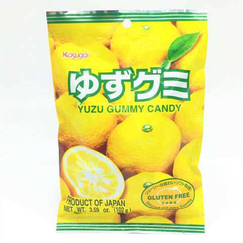 Japanese Kasugai Gummy Candy - Yuzu 3.59 oz