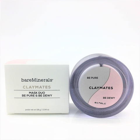 bareMinerals Claymates Mask Duo - Be Pure & Be Dewy 58g / 2.04 oz - Psyduckonline