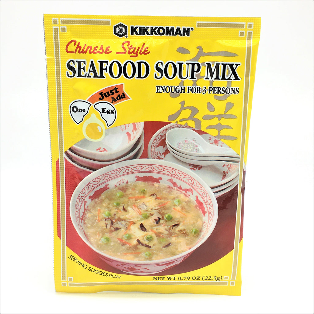 Kikkoman Chinese Style Seafood Soup Mix, For 3 Persons 0.79 oz