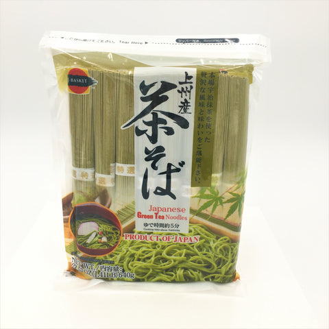 J-Basket Japanese Green Tea Soba Noodles 22.57oz/ 640g