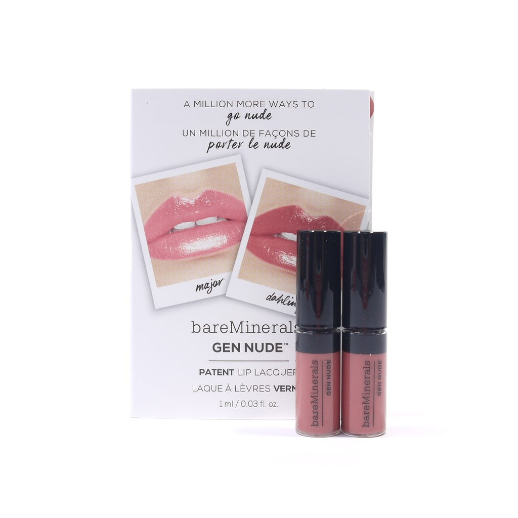 bareMinerals Gen Nude Patent Lip Lacquer, Dahling, 1 ml/ 0.03 fl oz(travel size) - Psyduckonline