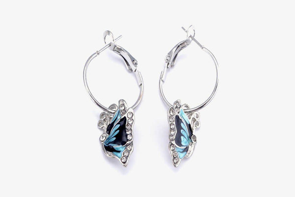 Butterfly Crystal Rhinestone Earrings - Phonebibi