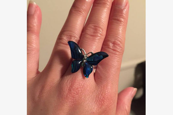 Unique 3D Butterfly Ring