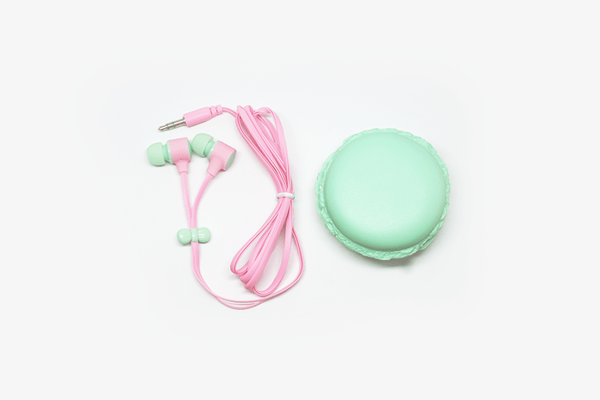 Sweet Macaron Earphones with Cases