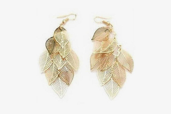 Durable Alloy Leaf Earrings - Phonebibi