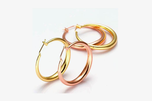Gold Hoop Earrings - Phonebibi