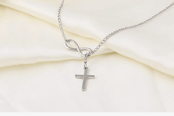 Infinity Cross Necklace - Phonebibi