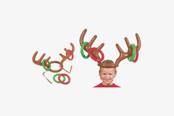 Inflatable Reindeer Party Hat Game - Phonebibi