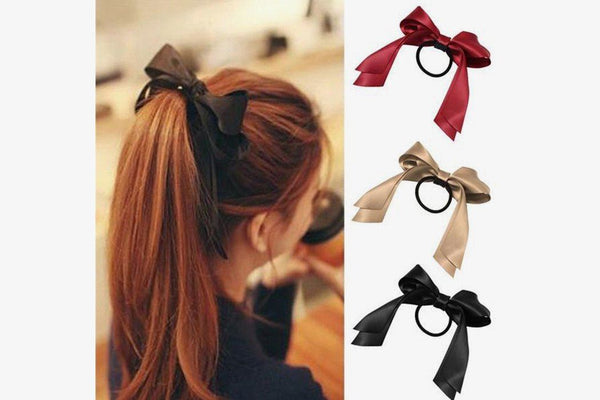 Women Ribbon Bow Hair Band - Phonebibi