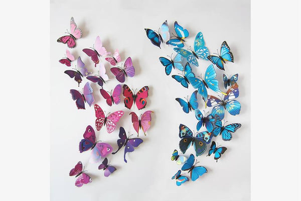 Butterfly 3D Wall Stickers (12 Pieces Set) - Phonebibi
