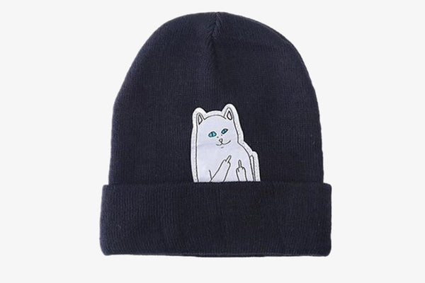 Cat Wool Knitted Hat