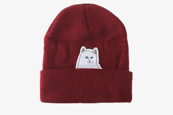 Cat Wool Knitted Hat - Phonebibi
