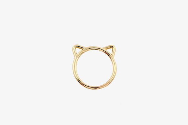 Cat Ears Gold Ring - Phonebibi