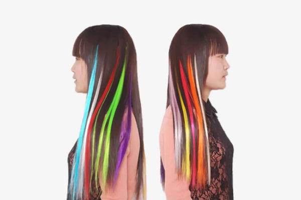 Color Clip On Hair Extension - Phonebibi